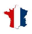 contour map france in color national flag vector image