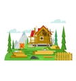 Cottage construction flat design vector image vector image