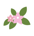 cute simple flower icon image vector image