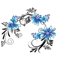 Daisies with black ornaments vector image vector image