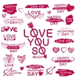 Decorative texts for love confession vector image vector image