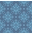 Desaturated blue lace snowflakes seamless pattern vector image vector image