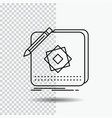design app logo application design line icon on vector image
