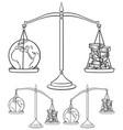 ecology concepts 4 line art vector image