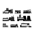 factory power and manufacturing plant black vector image