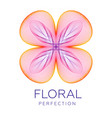 fantastic flower abstract shape with lots vector image