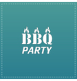 Flaming BBQ Party word design element vector image vector image