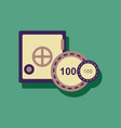 flat icon design collection safe and chips in vector image vector image
