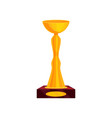 flat icon of tall golden cup on brown stand vector image