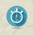 flat stopwatch icon vector image