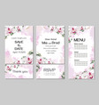 floral template for wedding invitations royal vector image vector image