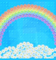 flowers rainbow and sky vector image vector image