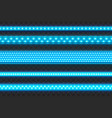 glowing blue led stripes seamless realistic vector image vector image