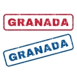 Granada Rubber Stamps vector image vector image
