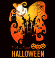 halloween poster template vector image