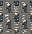 halloween seamless pattern background with vector image vector image