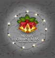happy christmas background retro christmas light vector image
