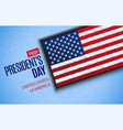 happy presidents day greeting card usa flag vector image vector image