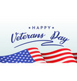 happy veterans day banner with congratulations vector image vector image