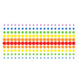 internet shape halftone spectral array vector image vector image