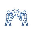 jazz line icon concept jazz flat symbol vector image