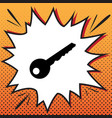 key sign comics style icon vector image vector image