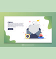 landing page template email modern flat design vector image