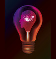 man idea creativity intelligence bulb concept vector image