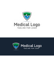 medical shield logo vector image