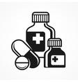 Medicines pills symbols vector image vector image