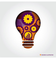 Minimal style Light Bulb shape with Business Idea vector image vector image