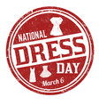 national dress day grunge rubber stamp vector image vector image