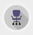 office chair icon flat vector image vector image