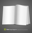 open white book vector image vector image