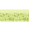 Paint textured green plants horizontal seamless vector image vector image