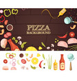 pizza cartoon style concept vector image vector image