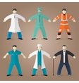 Professions set of medical doctors
