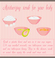 recipe of moisturising body scrub vector image