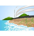 Road side the beach vector image vector image