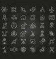 science and orbit communication thin line icons on vector image vector image