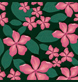 seamless pattern tropical flower background vector image vector image
