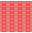 Seamless retro pattern hearts vector image