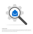 send mail icon search glass with gear symbol icon vector image vector image