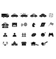 set car business icons and element vector image vector image