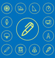 set of 12 editable science outline icons includes vector image vector image