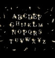 silver english alphabet vector image vector image