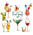 Sketch Cocktail Set vector image vector image