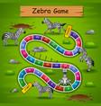 snakes ladders game zebra theme vector image