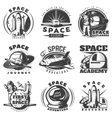 Space Black White Emblems vector image vector image
