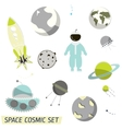 space pattern with rocket vector image vector image